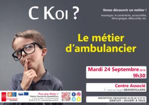 C KOI Le métier d'Ambulancier? @ Centre Associé Grandvilliers   Grandvilliers   Hauts-de-France   France