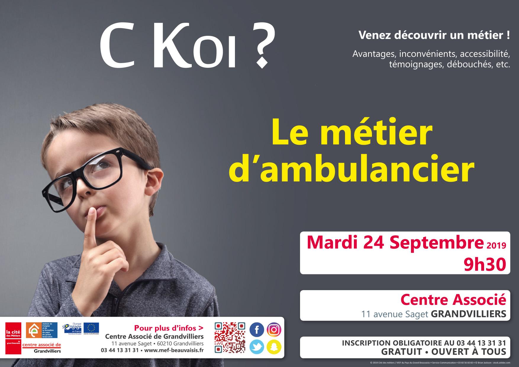 C Koi Le Métier D Ambulancier Cité Des Métiers Maison