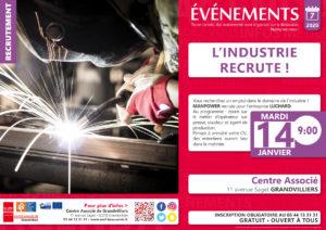 L'Industrie recrute ! @ Centre Associé Grandvilliers | Grandvilliers | Hauts-de-France | France
