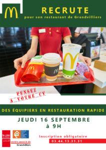 McDonald's recrute @ Mc Donald's | Grandvilliers | Hauts-de-France | France